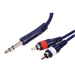 CABLE AUDIO 2xRCA MACHO LR  JACK ESTEREO 635mm 150m