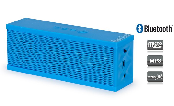 ALTAVOZ PORTATIL BATERIA RECARGABLE  MICRO SD  AUX  MP3  BLUETOOTH  AZUL
